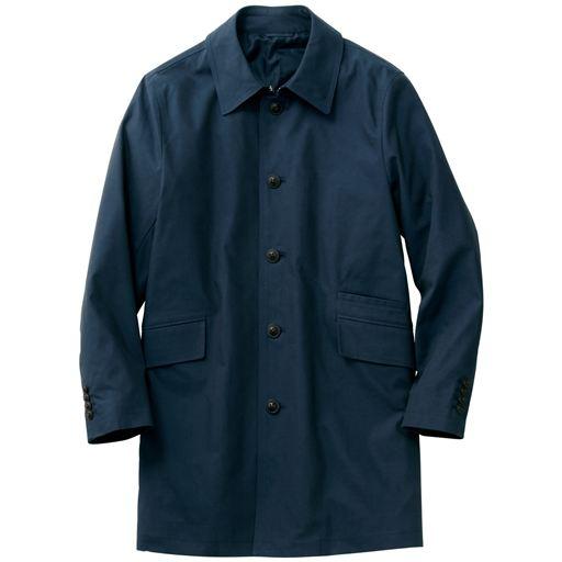 ストレッチ綿混素材の大人顔ステンカラーコート