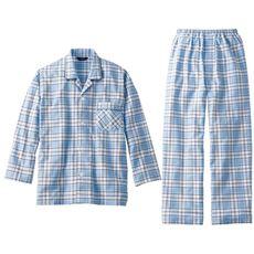 綿100%日本製シャツパジャマ紳士用(前開き)