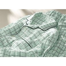 綿100%3重ガーゼふんわりあたたかシャツパジャマ(前開き)