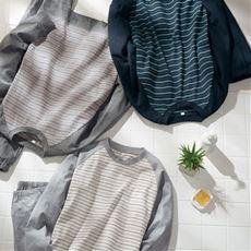 綿100%で抗菌防臭のTタイプパジャマ(男女兼用)