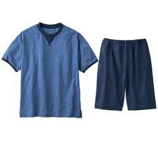 綿100%吸汗・速乾Tタイプパジャマ(半袖)(男女兼用)