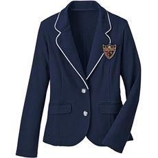 卒業式・入学式に!動きやすい、エンブレム付きカットソージャケット・ブレザー(スクール・制服)