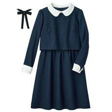 卒業式・入学式・冠婚葬祭にも!丸衿ワンピース(スクール・制服)