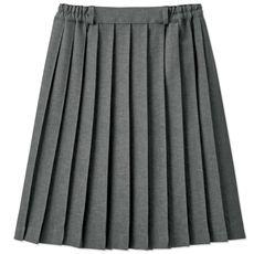 単色プリーツスカート(スカートベルト付き)(スクール・制服)