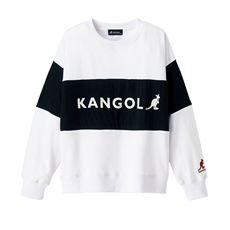 裏毛配色切替プルオーバー(KANGOL)