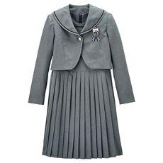 卒業式・入学式・冠婚葬祭にも!2WAYで着られる、ワンピース&ボレロスーツ3点セット(スクール・制服)