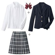 卒業式・入学式・冠婚葬祭にも!王道スーツ4点セット(スクール・制服)