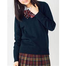 ランキング_年間使いやすい綿100% Vネックニットセーター(スクール・制服)