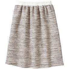 カットソーツイードスカート(選べる2レングス)