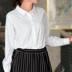カットソーシャツ(長袖)(UVカット・抗菌防臭・吸汗速乾)■グラマー用サイズ有(胸のサイズで選べる)■