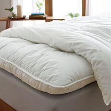 快適な眠りのためにプラスアルファのある機能ふとん。寒い日も暑い日も、素肌が心地よいと感じる温度に。「アウトラスト®」で一年中快適温度をコントロール。寝床内をいつも「ちょうどいい」温度に。