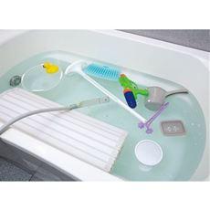 風呂釜の奥の汚れに!浴室小物もまとめて丸洗い!