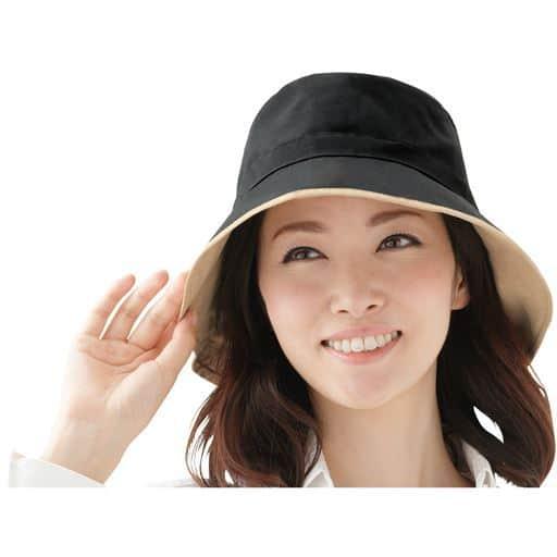コンパクトで携帯に便利!晴雨兼用リバーシブル帽子。
