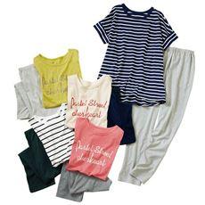 夏のお買い得半袖Tタイプパジャマ(綿100%)