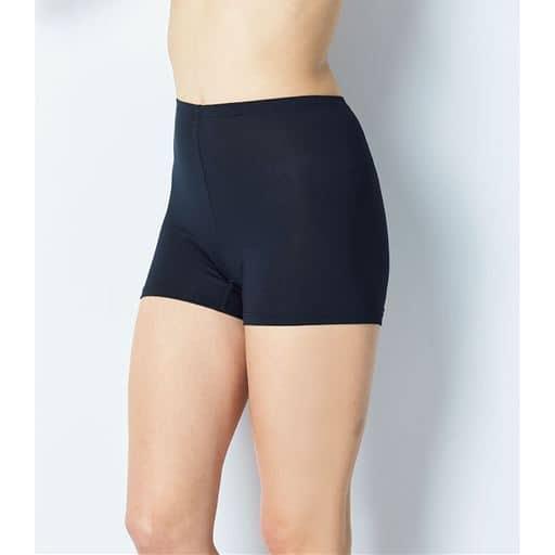お尻と太ももの汗対策に。一枚履きもできる、さらりと快適な「スマートドライ®」一分丈ボトム