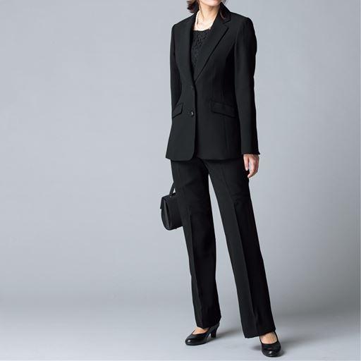 530f20821124c ブラックフォーマルスーツ(ジャケット+パンツ)(リバーシブル胸当て付き ...