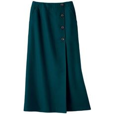 きちんと感のあるボタン使いロングナロースカート