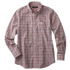 綿100%先染めの肌触りも着心地も使い勝手もちょうどいいジャストライトコットンシャツ(長袖)