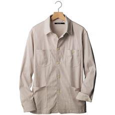 【ありそうでなかった!?】ストライプ柄がおしゃれな、ワークっぽいカバーオール型のシャツアウター