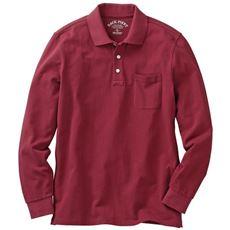 綿100%ポロシャツ・長袖(S~7L展開) メンズセシールを代表するアイテム。