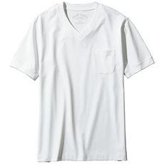 大人のためのドレスTシャツ。上品シルケット加工+ストレッチ!!