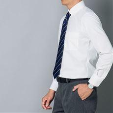 形態安定、抗菌防臭、防汚加工 メンズビジネス白Yシャツ(長袖)