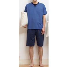 綿100%吸汗・速乾(半袖&ハーフパンツ)パジャマ(男女兼用)