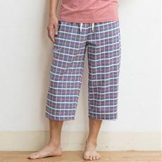 綿100%さらさらサッカー素材ルームパンツ(男女兼用)