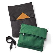 【anello®】ショルダーとクラッチバッグの2WAY仕様。杢調ニュアンスカラーが映える口折れショルダー