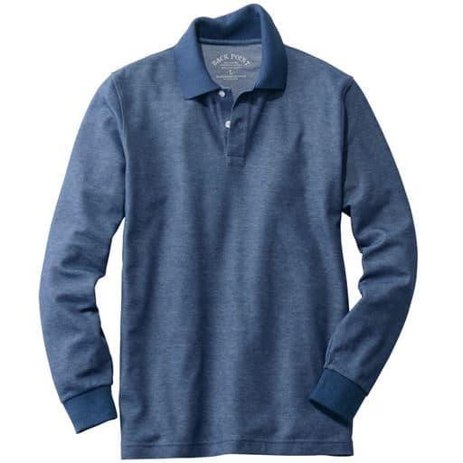 【人気商品】多機能素材のベーシック長袖ポロシャツ!!いろんなシチュエーションで活躍してくれる新定番アイテム