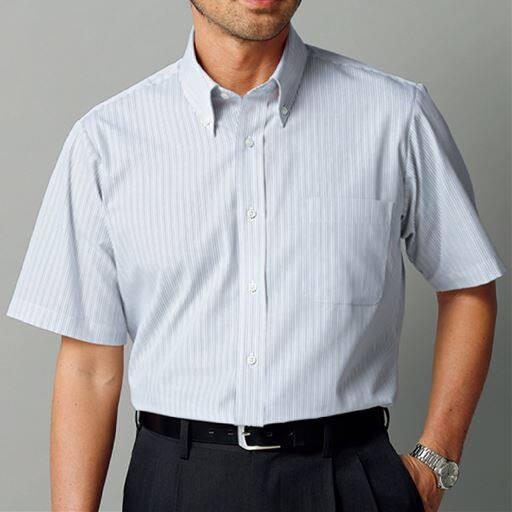 出張や洗い替えにも便利!形態安定Yシャツ(半袖)(S~5L)