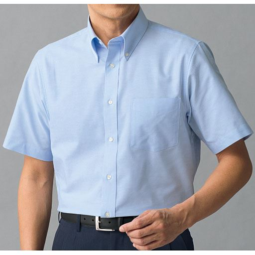 形態安定ボタンダウンYシャツ(半袖)