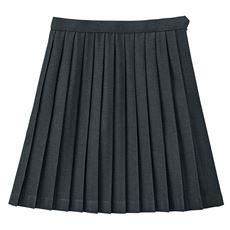 裏地・アジャスター付き 単色プリーツスカート(スクール・制服)