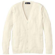 年間使いやすい綿100% Vネックニットカーディガン(スクール・制服)