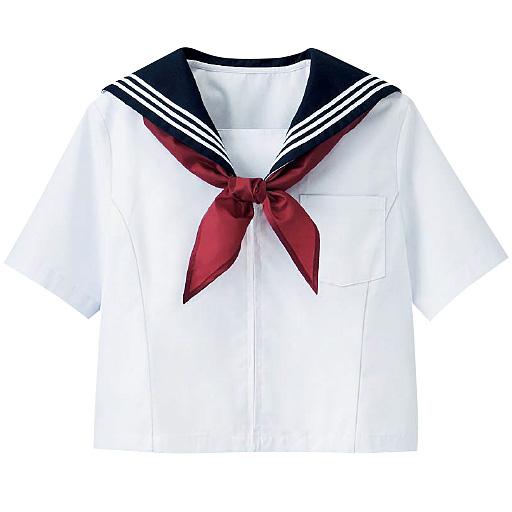 スカーフ付 半袖・長袖セーラー服(スクール・制服)