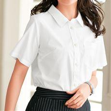 形態安定シャツ(半袖)(UVカット・抗菌防臭)■グラマーさん用サイズ有(胸のサイズで選べる)■