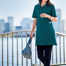 UVカットAラインチュニックポロシャツ(綿100%)