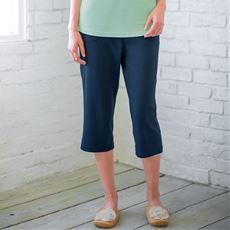 綿100%カプリパンツ(無地・膝下丈)