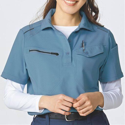 作業用ポロシャツ(半袖)女性用(吸汗速乾・静電防止)
