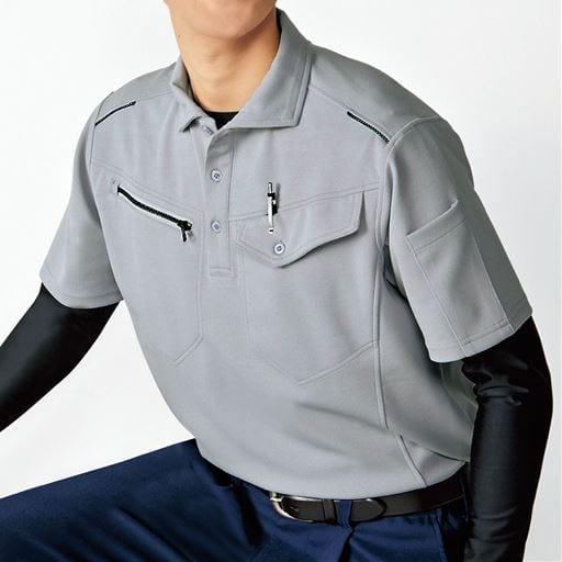 作業用ポロシャツ(半袖)男性用(吸汗速乾・静電防止)