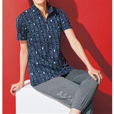 ハーフジップ半袖Tシャツ(吸汗速乾・UVケア)