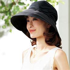 通気性が良いつば広メッシュ帽子