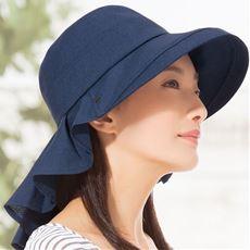 フェイスカバー付き遮熱クールUV帽子