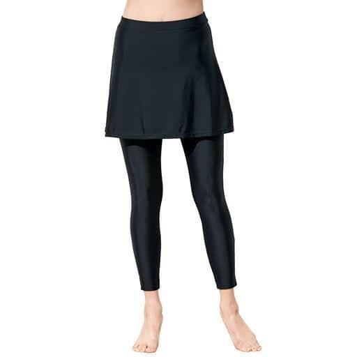 スカートとレギンスが一体化!お尻・お腹をカバー&美脚見せ。