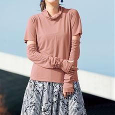 UVカットルーズネックTシャツ(吸汗速乾・遮熱)