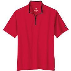 スポーツに活躍!吸汗速乾・メッシュ素材のメンズハーフジップTシャツ(ケースイス)