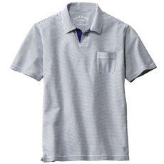 【すっきり。カッコいい。】吸汗・速乾・抗菌防臭・UVカットの機能を併せ持つ鹿の子素材で仕上げたスキッパーデザインのポロシャツ