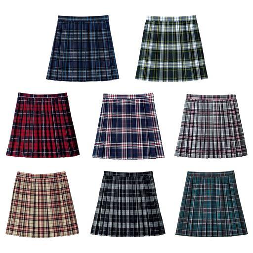 a14759faf0a821 丈が選べるチェック柄プリーツスカート(スクール・制服) - セシール(cecile)