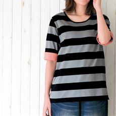 ボーダーTシャツ(綿100%)