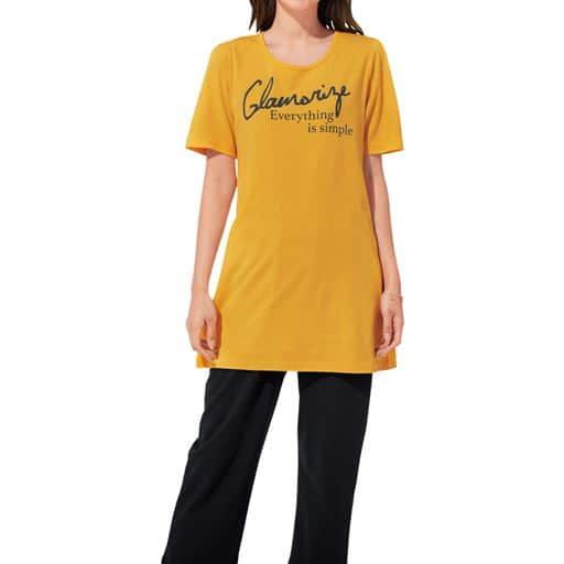 【大きいサイズ プランプ】綿100%ですっきり見え!夏の万能Tシャツです